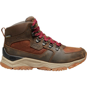 Keen Innate WP Leather Mid Shoes Dame Praline/Cherry